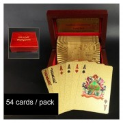 Creativo Plastico Frosted Golden 500 Euro De Nuevo La Textura De Las Vegas A Macao Naipes De Poker Texas Con Caja De Regalo