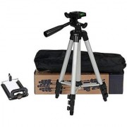 Conbre Tripod-3110 Portable Adjustable Aluminum Lightweight Camera Stand with Three-Dimensional Head Quick Release Pla
