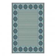 Korhani Peguis Outdoorteppich 200x265 cm Blau Mehrfarbig