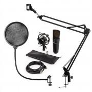 Auna MIC-920B, USB микрофонен комплект V4, кондензаторен микрофон, рамка за микрофон, черен, (60001979-V4)