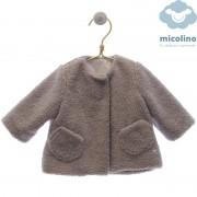 Abrigo bebé borreguito rizado Micolino