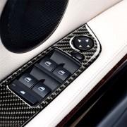 BMW 4 stuks driekleur Carbon Fiber auto links rijden hijs paneel decoratieve sticker zonder vouwen voor BMW E90/320i/325i diameter: 37 8 cm