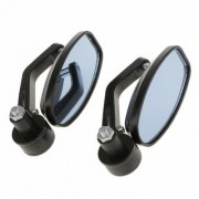 Motorcycle Bar End Mirror Rear View Mirror Oval For Bikes FOR HERO PASSION PRO TR