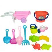 HALO NATION® Kids Gardening Cum Beach Tool Set with Bucket - Garden / Sand Play Set - Beach Wagon with Multiple Sand Play Tools