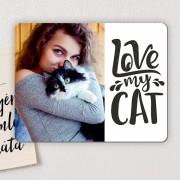 Love my Cat - egyedi hűtőmágnes