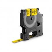 Etichete tub termocontractibil DYMO ID1 9mm x 1.5m negru galben 18054