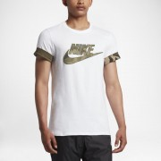 Tee-shirt camouflage Nike Sportswear pour Homme - Blanc