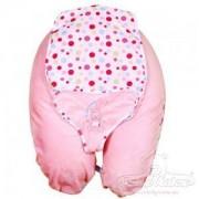 Детска възглавница-шезлонг, Relax Best Friends цвят розов, 0191, Baby Matex, 5902675035729