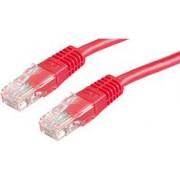 Kabel mrežni Cat 5e UTP 5.0m crveni (24AWG) High Quality