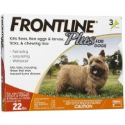 Frontline Plus (Orange) for Small Dogs up to 22lbs 6 Doses