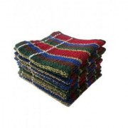 REGE Multicolour Striped Handkerchief Towels (Set of 6pcs)