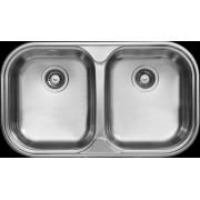 """Livinox kétmedencés mosogató 3 1/2"""" - szövetmintás - EX-193DK"""