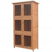 vidaXL Cușcă pentru iepuri și alte animale, 6 camere, lemn