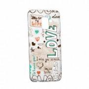 Husa Silicon Transparent Slim I Love You Asus Zenfone 3 MAX ZC520TL