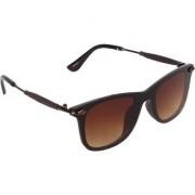 Adrian Rectangular Wayfarer Sunglasses(Brown)