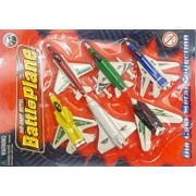 Jet Aircraft Battle Airplane Military Air Force Spaceship Planes Set of 6 Toy Die-Cast Metal Playset Diecast