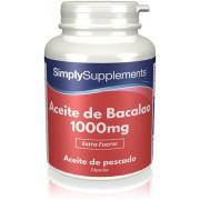 Simply Supplements Aceite de Bacalao 1000 mg - 360 Cápsulas