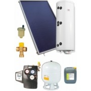 Pachet solar cu panouri plane si boiler 2 serpentine 5-6 persoane