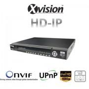 HD IP NVR rekordér pro 9/16 kamer 1080p / 720p + 1TB HDD