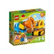 Set de constructie LEGO Duplo Camion si Excavator pe Senile
