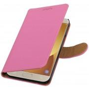 bookstyle / book case/ wallet case Hoes voor Samsung Galaxy J5 (2017) J530F Roze