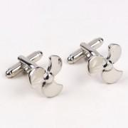 69th Avenue Men's Silver Air Fan shaped Cufflinks