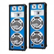 2 casse acustiche diffusori luce led pro dj 4 woofer pa