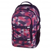 Rucsac Be.Bag ergonomic dimensiune 34x47x23 cm, motiv Beat Purple Checked