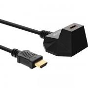 InLine HDMI 1.4 Kabel met Voet 1m Zwart