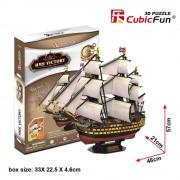Puzzle 3D CubicFun Corabia HMS Victory 189 piese