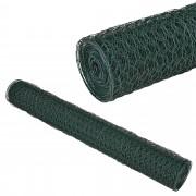 [pro.tec] Malla de alambre hexagonal verde [1m x 25m] Valla de tela metálica - cerca de alambre