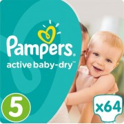 Pampers pelene Active Baby 5 Junior, 64 kom