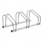 [neu.haus]® Biciklitároló acél 72 x 33 x 26 cm kerékpár tartó 3 kerékpárnak