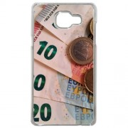 Coque Euro Monnaie 1 Compatible Samsung Galaxy A3 2016 Transparent