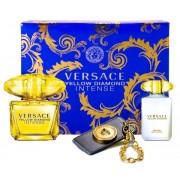 Versace Yellow Diamond Intense Woda perfumowana 90ml spray + Balsam do ciała 100ml + Zawieszka do torebki