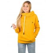 Kazane Britta Hoodie : golden rod print - Size: Extra Small