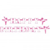 Party banner Happy Birthday Balet
