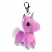 Sparkle Tales Blossom unikornis kulcstartó, rózsaszín 13 cm Aurora
