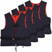 vidaXL Auxiliares de flutuação 4 pcs 50 N 30-50 kg azul-marinho