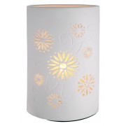 Lampa ELLIPSE FLORALE, portelan, 18 x 10 x 28 cm