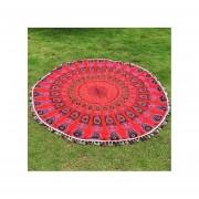 Cocodeal Toalla De Playa Tapiz Yoga Mat Bohemia-Rojo