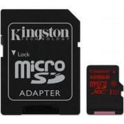 Card de memorie Kingston SDCA3/128GB, microSDXC, 128GB, Clasa 10, UHS-I U3 + Adaptor SD