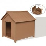vidaXL Hundkoja i WPC 73,5x68x74 cm brun