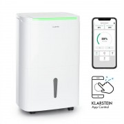 Klarstein DryFry Connect 50, обезвлажнител за въздух, WiFi, компресия, 50 l / d, 45-55m², бял (DXJ2-DryFyConnect50)