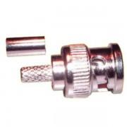BNC dugó krimpelhető RG6-os kábelre (3245)