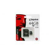 Tarjeta de Memoria 64gb Kingston Clase 10 -Negro