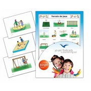 Playground Flashcards in French Language - Flash Cards with Matching Bingo Game for Toddlers, Kids, Children and Adults - Size 4.13 5.83 in - DIN A6