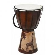 Nature Plush Planet Handgemaakte houten drum Giraffe