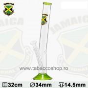 Bong din sticla Jamaica Logo 32cm
