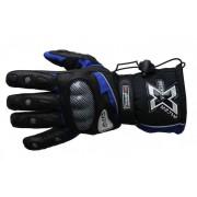 STREET-CYCLE 15802 XTREME-2 Motorradhandschuh Tex-Leder schwarz-blau L